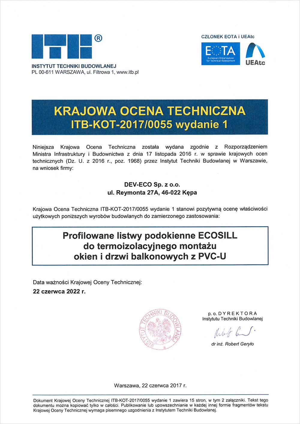 Krajowa Ocena Techniczna ITB